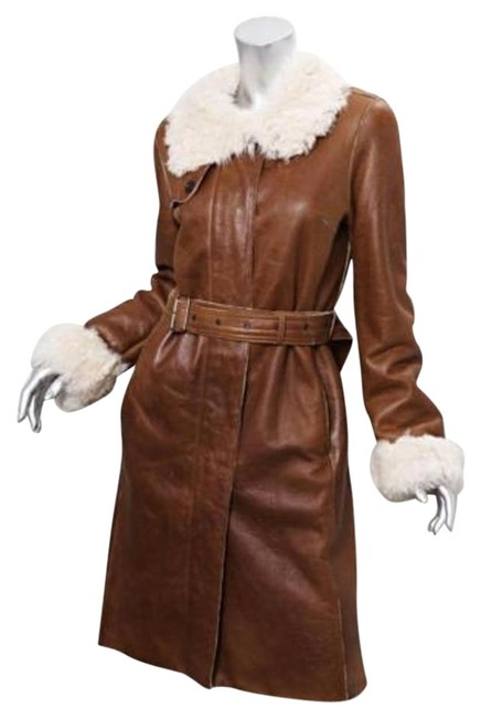 Preload https://item5.tradesy.com/images/burberry-womens-brown-leather-shearling-fur-trench-belted-long-jacket-coat-1869839-0-1.jpg?width=400&height=650