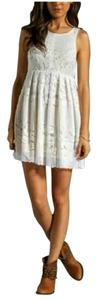 Free People short dress White/Light Yellow on Tradesy