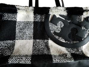 Tory Burch Handle Tote in black and white