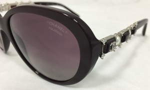 Chanel Burgundy Bijou Polarized Chanel Sunglasses 5337-H-B c.1461/K5 56