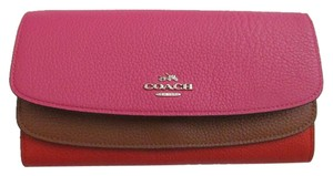 Coach COACH 53858 ColorBlock Flap Slim Envelop Wallet