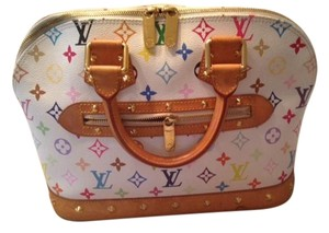 Louis Vuitton Satchel in white monogram multicolore