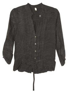 Joie Shirt Shirt Button Up Top Black