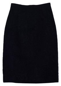 Dolce&Gabbana Black Floral Brocade Pencil Skirt