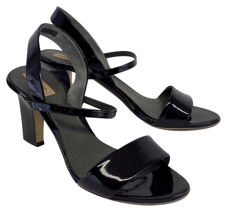 Reed Black Krakoff Black Reed Patent Leather Heels Sandals cf216f
