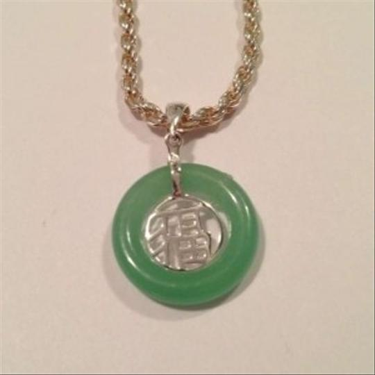 Unknown Jade Pendant w/ Silver Chain