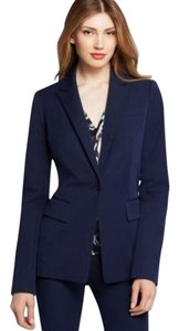 Rachel Roy Rachel Roy Navy Blue Fitted Stretch Twill Blazer size 8