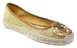 Tory Burch Summer Gold Glitter Flats