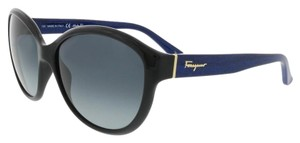 Salvatore Ferragamo Salvatore Ferragamo Black/Blue Wood Round