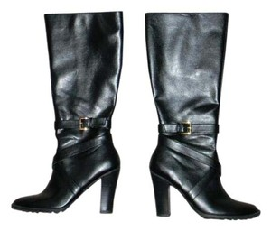 Chaps Ralph Lauren Knee High Black Boots