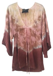 Free People short dress Tie Dye Boho Bell Sleeve Vitamin A on Tradesy