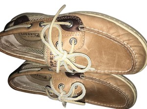 Sperry Tan and copper brown Flats