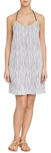 Tory Burch Vallauris Stripe A-Line Swim Cover Up Dress