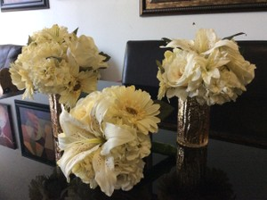 Ivory Faux Flower Bouquets
