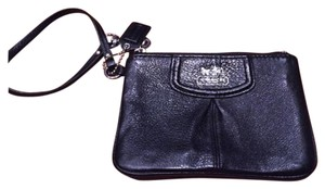 Coach New Leather Wristlet in Black