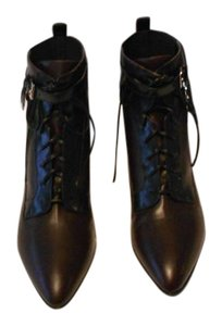 Sergio Rossi Made Stylish Black/Burgundy Boots