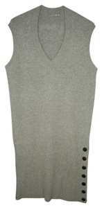 Anthropologie short dress Gray Sweater Knit Ribbed on Tradesy