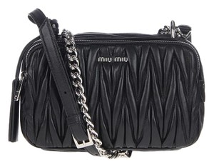 Miu Miu Leather Camera Cross Body Bag