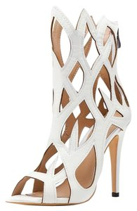 Other Caged Heels Heels White Sandals