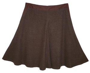 Anthropologie Soft Plus A-line Brown Skirt