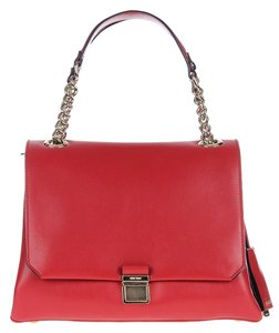 Miu Miu Leather Shoulder Satchel in Red