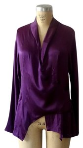 Other Chic Elegant Silk Night Out Top Purple