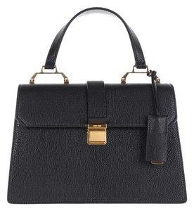 Miu Miu Leather Top Handle Satchel in Black