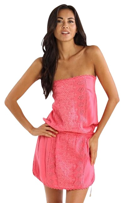 Item - Pink Resortwear Strapless Dress Cover-up/Sarong Size 4 (S)