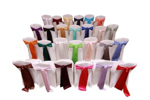 Your Choice Lot Of 150 Satin Sashes Color Ceremony Decoration