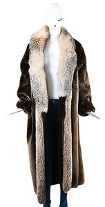 Other Vintage Hinsdale Furriers Sheared Beaver Long With Crystal Fox Trim Coat