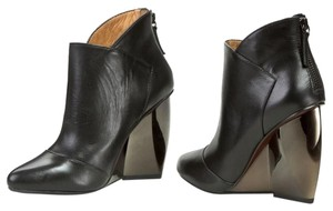 United Nude Wedge Heel Black Leather Boots