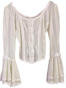 Flora Nikrooz Sexy Bohemian Lace Top Ivory
