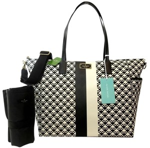 Kate Spade Large Tote Mom Black and white Diaper Bag