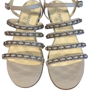 Chanel Gray Sandals