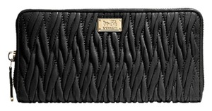 Coach NWT F49609 Madison Twist Leather Accordion Zip Wallet
