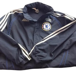 adidas Blue with gray stripes Jacket