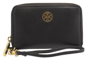 Tory Burch Tory Burch Robinson Black Leather Phone Case (95815)