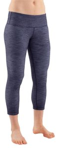 Lululemon Wunder Under Crop DEIN / WHT Leggings