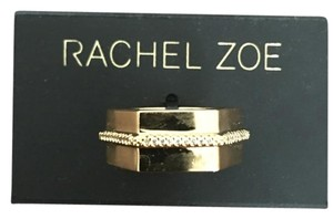 Rachel Zoe 14K Gold Plated Micro Swarovski Statement Ring