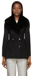 Burberry Winter Fur Cashmere Pea Coat