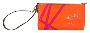 Louis Vuitton Robert Wilson Pochette Vernis Wristlet in Orange