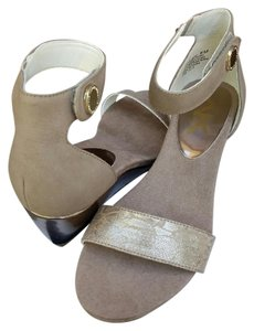 Anne Klein Taupe & Bronze Sandals