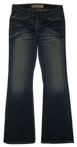 BKE 5 Pocket Style Zip Fly Cotton/spandex Boot Cut Jeans-Dark Rinse
