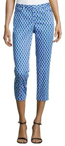Laundry by Shelli Segal Geometric Print Capris Blue
