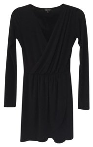 Topshop Tulip Hem Longsleeve V-neck Dress