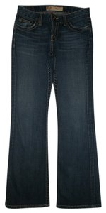 BKE Flap Pockets Zip Fly Cotton/spandex Boot Cut Jeans-Dark Rinse