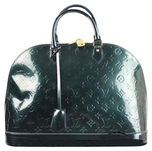 Louis Vuitton Alma Gm Vernis Alma Satchel in Green