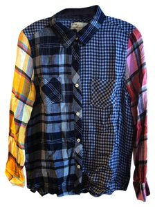 Vintage Havana Button Down Shirt Multicolor Flannel