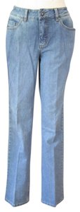 Coldwater Creek Stretchy Classic Fit Casual Boot Cut Jeans-Light Wash