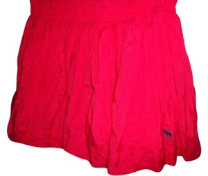 Abercrombie & Fitch Sexy Gypsy Ruffled Football Mini Skirt Red